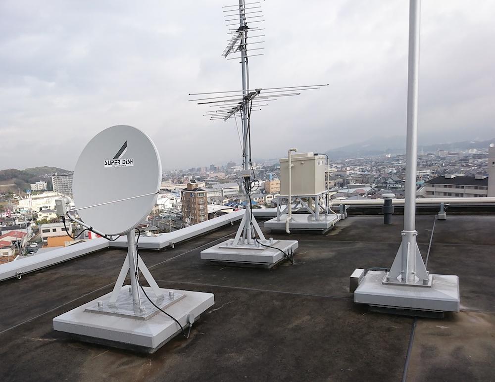 4K8KTV共聴設備、アンテナ